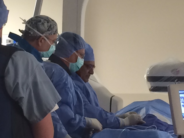 Dr. Arvind Ahuja, M.D. Performs Angiogram
